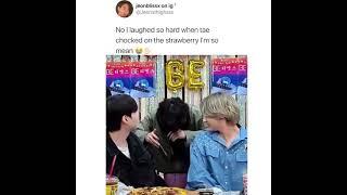 Why did Tae choke on strawberry #shorts