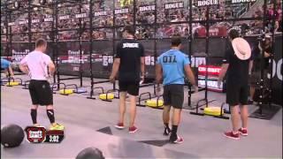 2012 Crossfit Games - Medball-handstand Push-up: Men, Heat 4