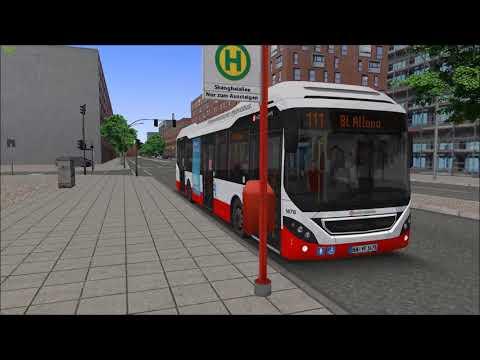 Lets Play OMSI 2 #02 Vorschau der Linie 111 im Addon Hamburg Hafencity