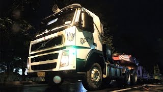 het heavy equipment transport volvo fm13 fl10 mitsubishi fuso 8dc11