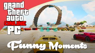 GTA V Funny Moments - RACEN, LACHEN EN LOOPINGS! (Nederlands) - PC