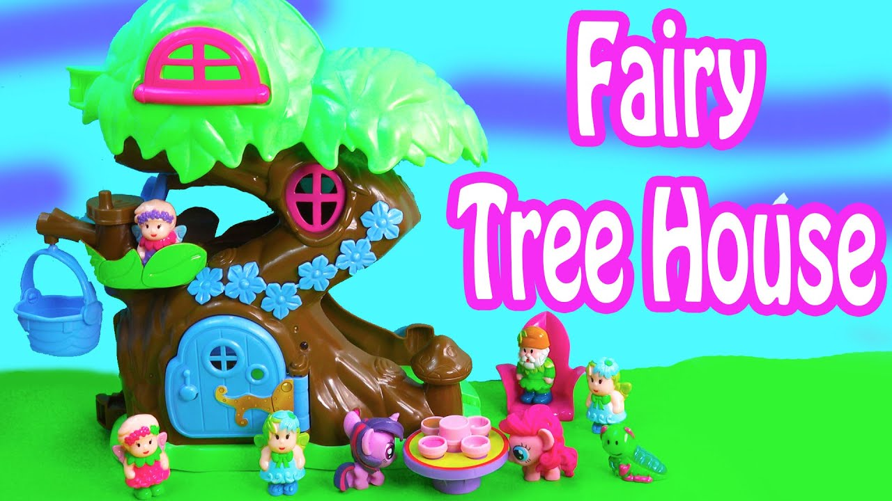 Lovely Little People Fairy Treehouse Part - 10: MLP Fairy Tree House Home Playset Fashems My Little Pony Pinkie Pie  Twilight Playing Fun Review - YouTube