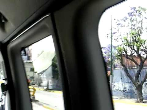 Traveling With Secretary Clinton: En Route to Hotel in Mexico City