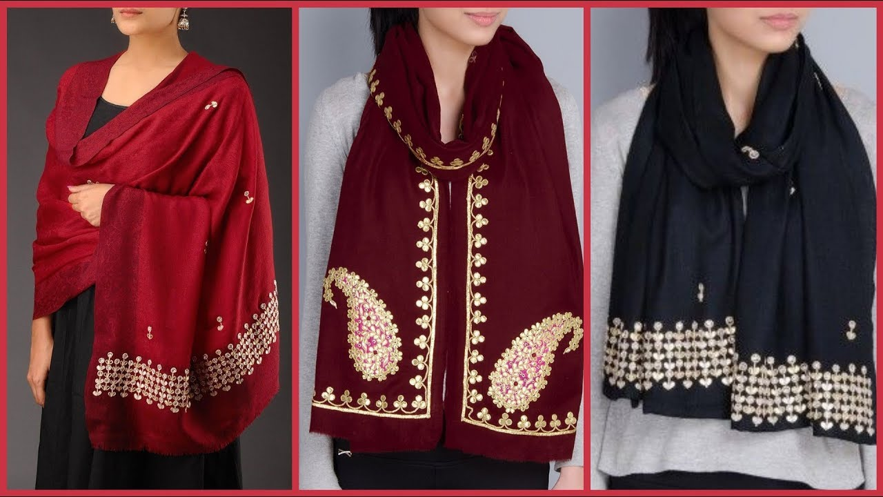 [VIDEO] - Stunningly Beautiful And Stylish Designs of Warm Shawls Designs  for ladies 2019 2