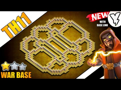 [NEW] Insane TH11 CWL War Base 2021!! | BEST TH11 HYBRID War Base Design With LAYOUT LINK✔✔ - COC