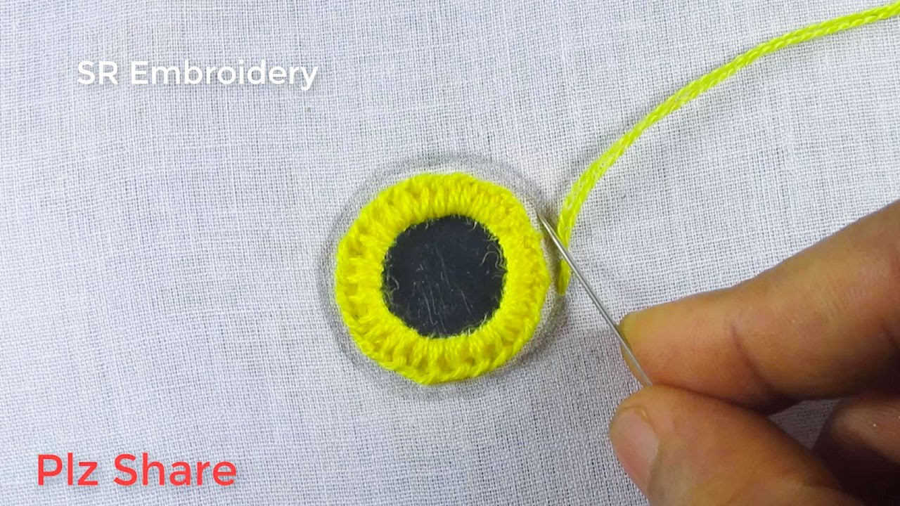 Hand Embroidery Amazing Circle Design,Mirror Work,Circle Embroidery Stitch,Circle Design Stitch
