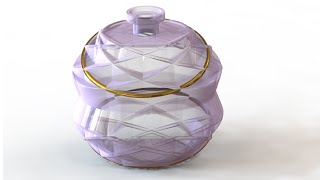 SolidWorks Tutorial #180: Perfume Bottle (bottle4)