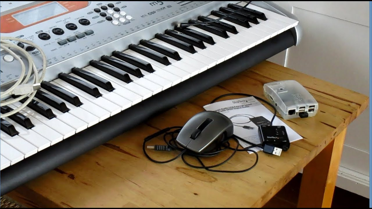 raspberry pi as a low latency synthesizer using a usb soundcard - how to  set up Jack