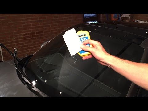 How to Get Rain-X Off the Windshield of Your Car - No fire