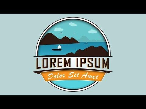 Badge/Emblem Logo Design | Adobe Photoshop Tutorial