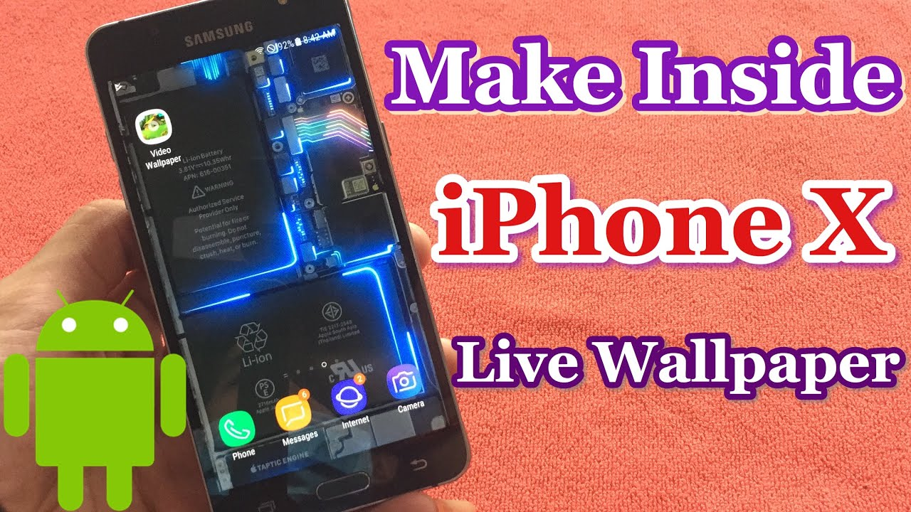How To Make Inside Iphone X As Live Wallpaper For Android Youtube