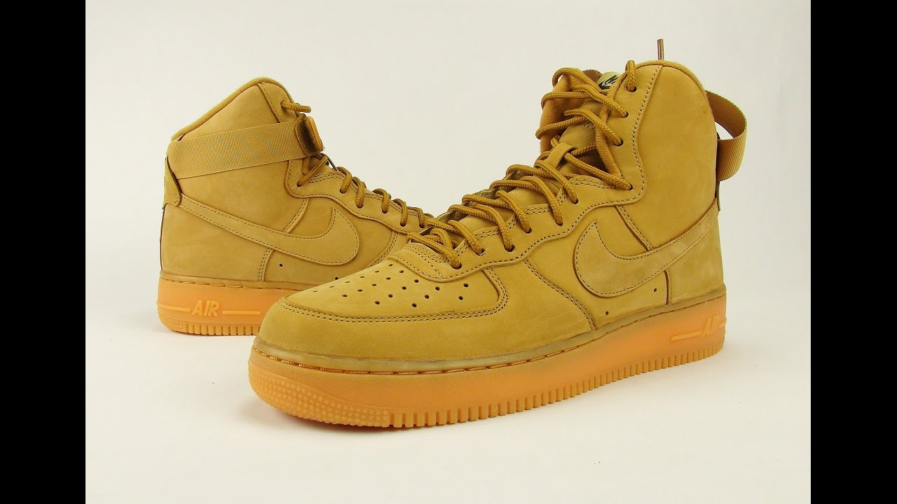 nike air force 1 wheat 2015 videos