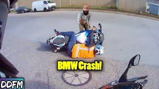 New Rider Dumps A Brąnd New BMWS1000rr On A Test Ride