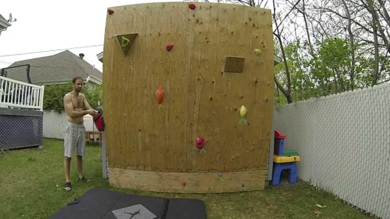 Bien-aimé Mon petit mur d'escalade perso avec mes nouvelles prises plastick  RR46
