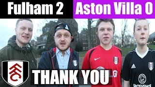 Fulham 2 Aston Villa 0   Thank You! Slaviša and the team   Fulham Football Club