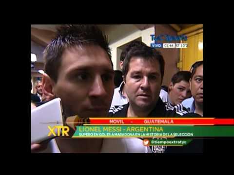 Entrevista con Lionel Messi luego del amistoso ante Guatemala