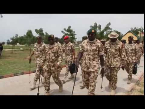 Chief of Defence Staff Arrival To Maiduguri Held First Meeting At The Theatre Command Centre