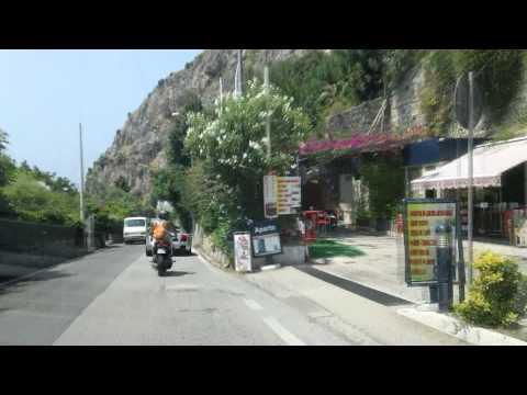 Campania Italy road seashore