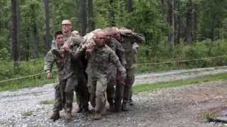 Ranger students tackle the Darby Queen Obstacle Course