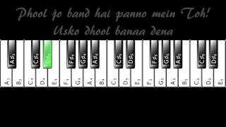 Maana Ke Hum Yaar Nahin - Complete Piano Tutorial (with Prelude/Interludes)