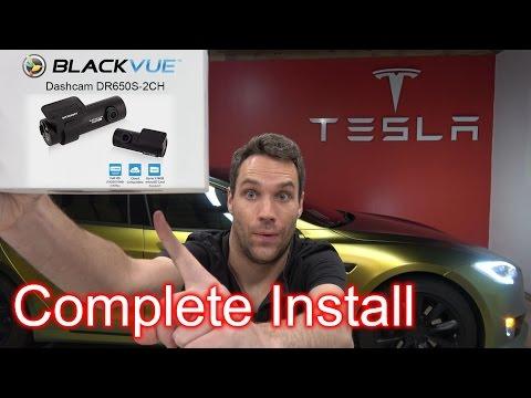 2017 Tesla Model S 100D Dash Cam Install. Blackvue DR650S-2CH