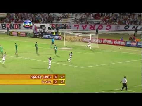 Campeonato Brasileiro Série C - Melhores Momentos: SANTA CRUZ 4 x 0 Icasa/CE - 04/08/2012