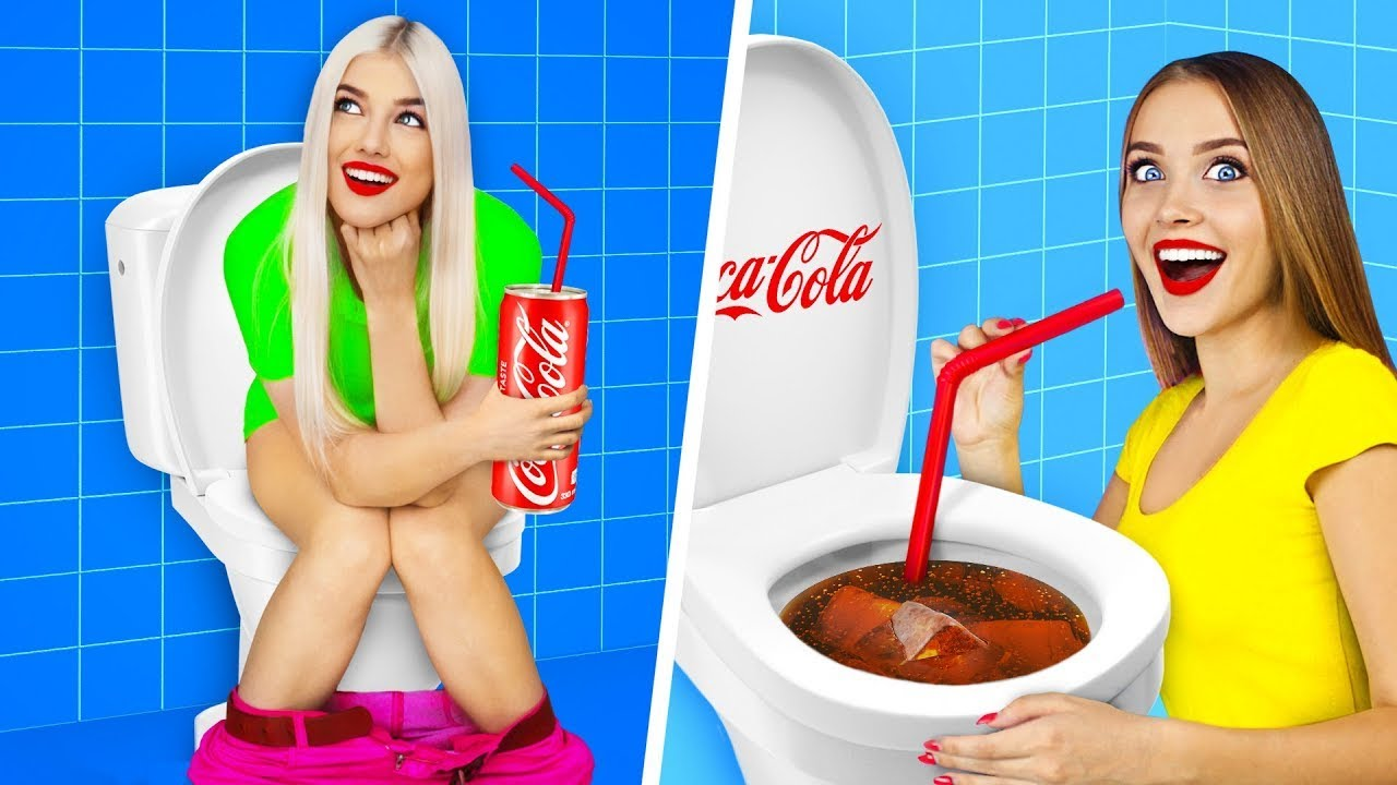 Download GERÇEK VS COCA COLA'LI YİYECEKLERİN MEYDAN OKUMASI || RATATA'dan Coca Cola'lı Yiyeceklerle 24 Saat!
