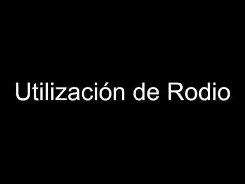 Utilización de Rodio