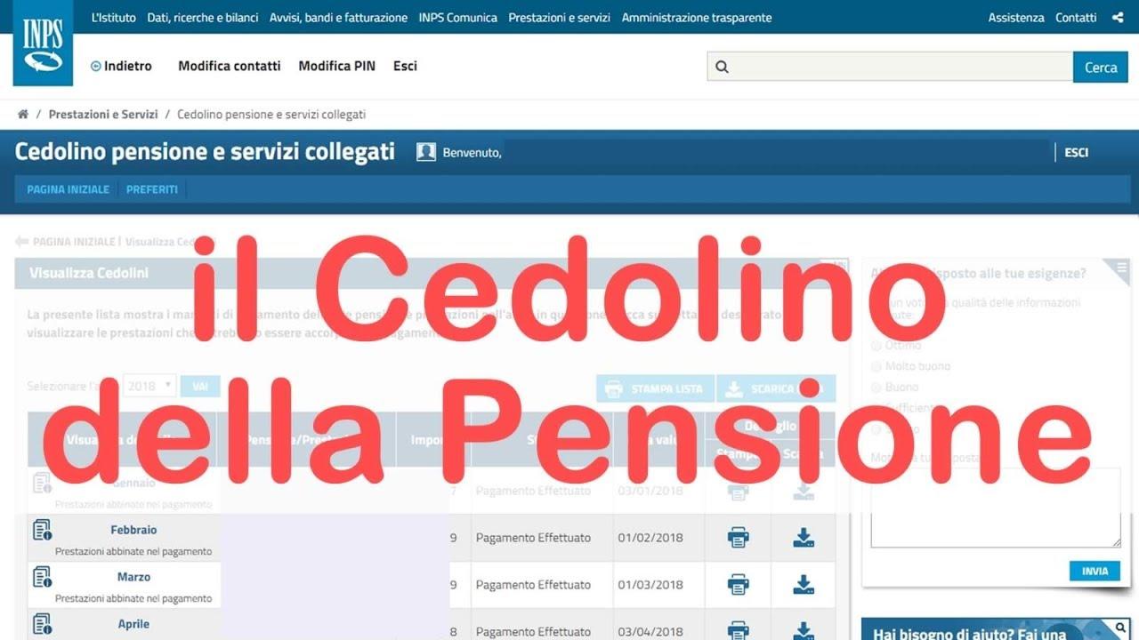 cedolino pensione