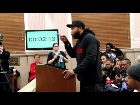 Talking Racine- Town Hall Meeting Donte Shannon 1-22-2018
