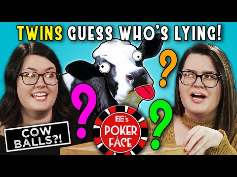 Can TWINS Guess If Their Twin Is LYING?   Poker Face