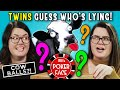 Can TWINS Guess If Their Twin Is LYING? | Poker Face