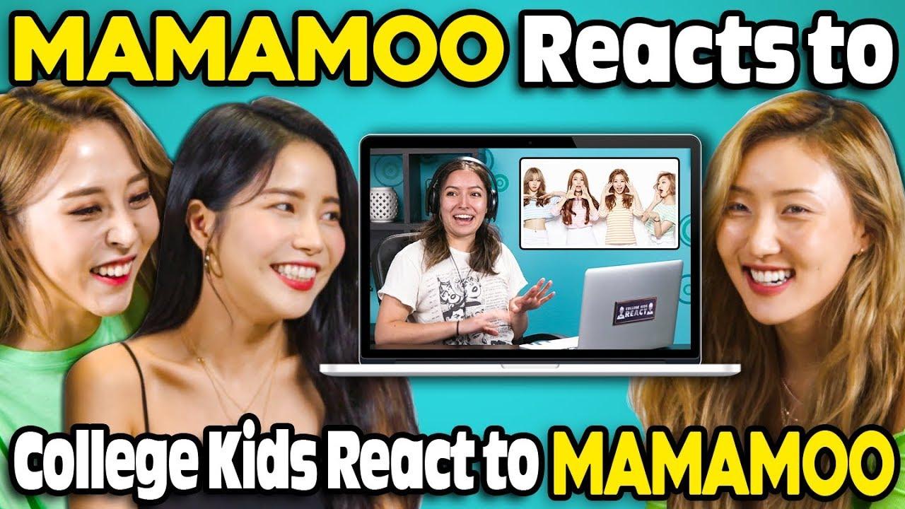 MAMAMOO Reacts To College Kids React To MAMAMOO (K-Pop) - YouTube