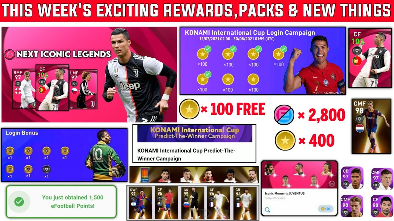 8 EXCITING REWARDS,PACKS & NEW THINGS ON THIS WEEK🤩 | PES 2021 MOBILE