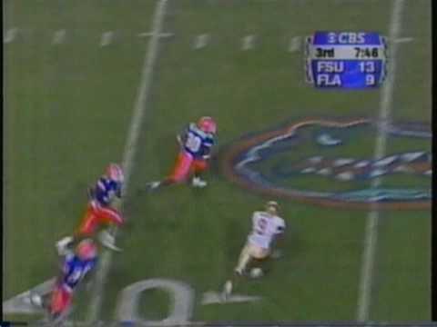1999 FSU @ Florida - Bennie Alexander INT TD