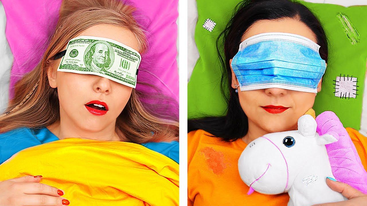 Rich Unpopular Girl vs Broke Popular Girl/ Types of Students
