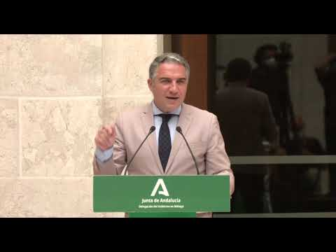 Elías Bendodo informa que Andalucía va a administrar 800 mil vacunas en solo una semana