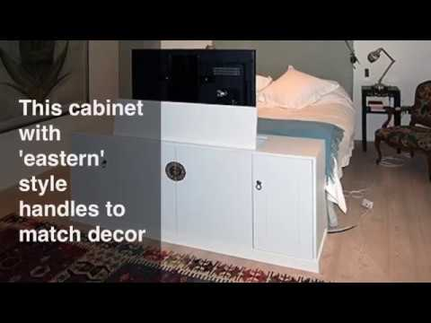 Tv Lift Cabinet For End Of Bed Youtube