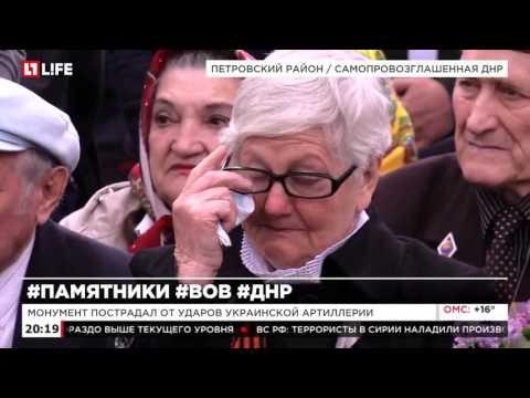 В ДНР восстановили памятник солдату Красной Армии