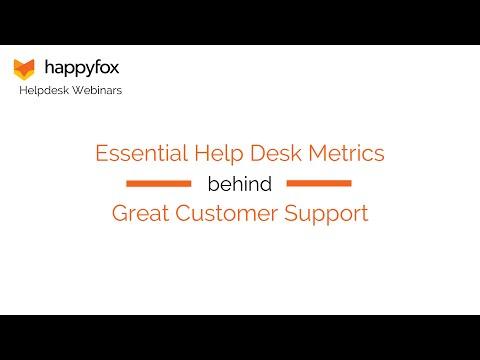 Essential Help Desk Metrics behind Great Customer Support - HappyFox Webinar