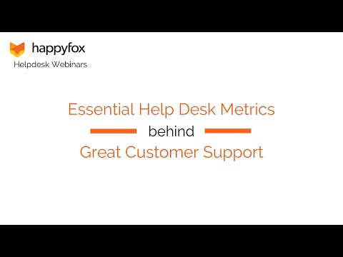 Essential Help Desk Metrics behind Great Customer Support – HappyFox Webinar