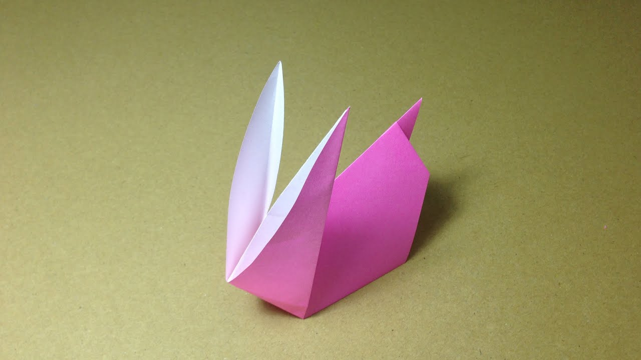 How To Make A Paper Animals Origami Rabbit Easy For Children