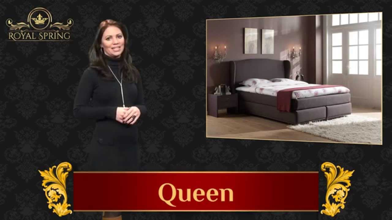 queen boxspringbett royal spring youtube. Black Bedroom Furniture Sets. Home Design Ideas