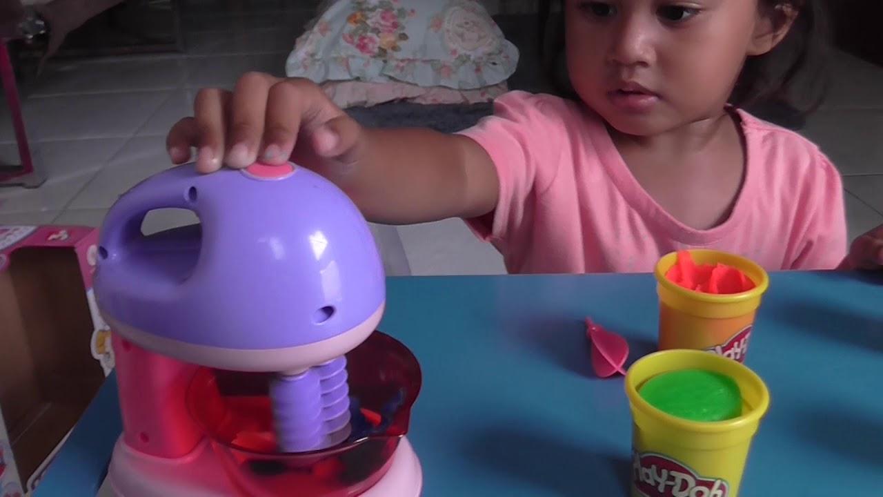 Main Masak Masakan Mainan Anak Blender Playdoh Youtube