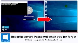 Recovery Windows 10/8/7 password when you forgotten