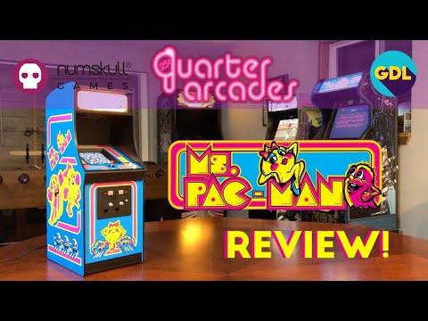 Mini Ms Pac-Man! Quarter Arcades Ms Pac-Man Review! A 1/4 (quarter Scale) Replica Of Arcade Classic!