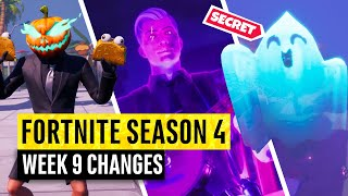 Fortnite | All Season 4 Map Updates and Hidden Secrets! WEEK 9 Fortnitemares
