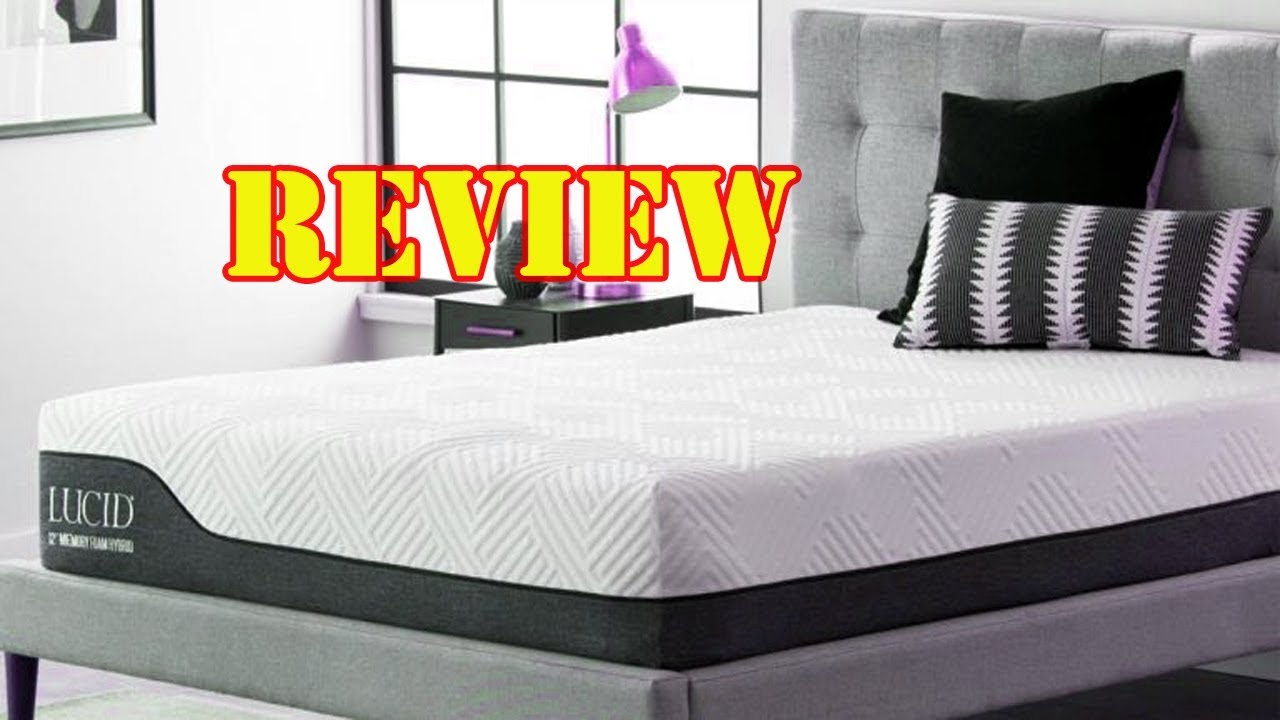 Latex Foam Mattress Review Lucid Latex Foam Mattress Firm Ventilated Design Memory Foam 2018
