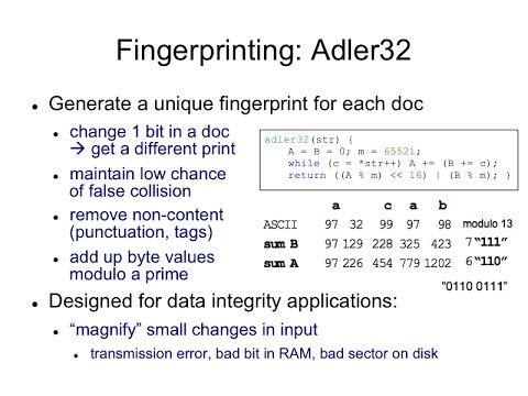 LSH.4 Adler32 hashcode