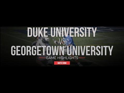 Duke Univ. vs Georgetown | 2017 College Lacrosse Highlights
